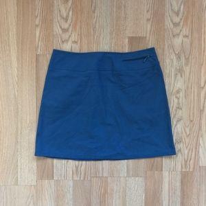 Express Bleus Faux Suede Blue Mini Skirt Size 4